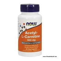 NOW Acetyl L-Carnitine 500mg, 50 Veg Capsules