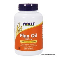 NOW Flax Oil 1000mg, 100 Softgels