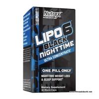 Nutrex Lipo 6 Black Nighttime UC, 30 Black Caps